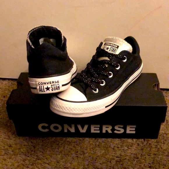 Converse Maddison Chuck Taylors with Silver